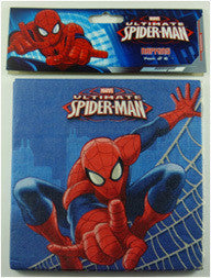 Printed Lunch Napkins - Spiderman Pk 16