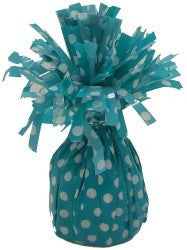 Balloon Weight - Carribean Teal Polka Dot