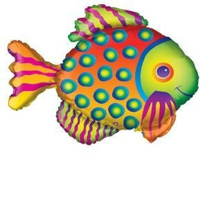 Foil Balloon Supershape - Tropical Fish