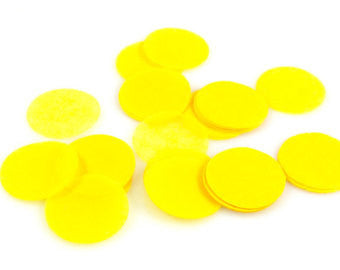 "Confetti - 2"" Circles Tissue Paper 7g (Yellow)"