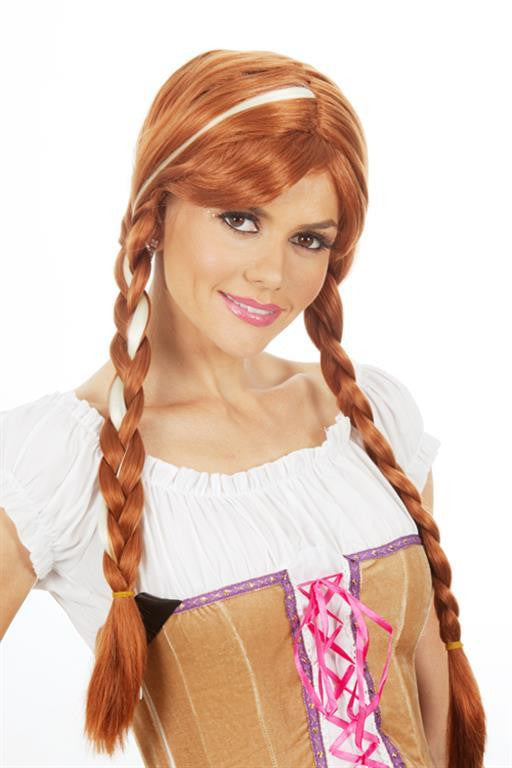 Wig - Deluxe Anna Snow Princess Adult (Brown)