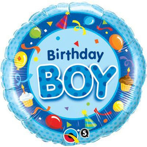 "Foil Balloon 18"" - Birthday Boy Party"