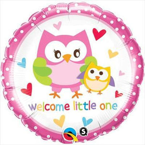 "Foil Balloon 18"" - Welcome Little One Owl"