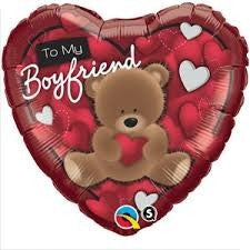 "Foil Balloon 18"" - To My Boyfriend Bear"