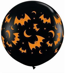 "36"" Print Latex - Halloween Flying Bats & Moons"