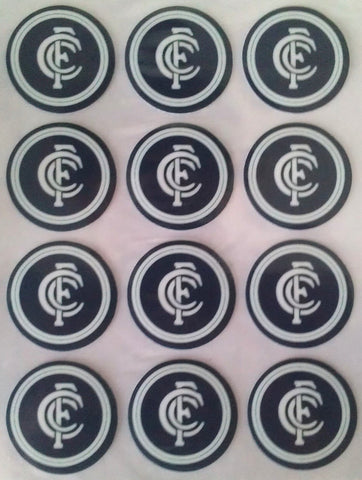 Edible Icing Image - AFL Carlton Blues Cupcake Pk 12