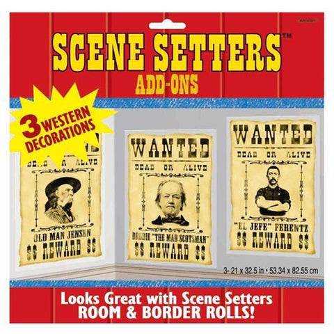 Scene Setter Add Ons - Western Most Wanted Posters