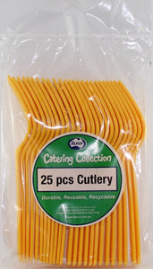 Plastic Forks - Yellow Pk 25