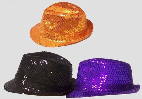 Hat - Disco Sequin Fedora LED Flashing (Child)