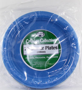Plastic Dinner Plates - Royal Blue Pk 25