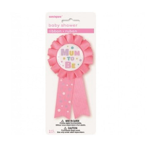 Award Ribbon - Mum To Be (Pink)