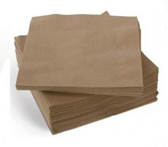 Cocktail Napkins - Eco Brown 2 Ply Pk 40