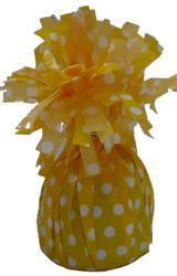 Balloon Weight - Yellow Polka Dot Standard