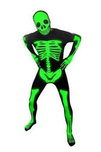 Costume - Skeleton Glow In The Dark Invisible Suit (Adult)