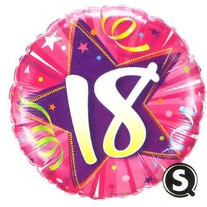 "Foil Balloon 18"" - 18th Birthday Shining Star Pink"