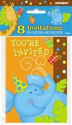 Invites - Jungle Party Pk 8