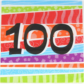 Printed Lunch Napkins - 100th Pk 25