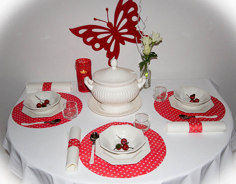 Party Pack - Entertainers Red Polka Dots