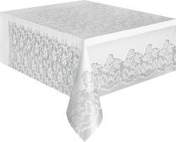 Tablecover Rectangle - White Lace