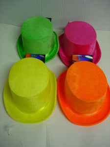 Top Hat - Velvet Look Neon Asstd