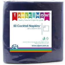Napkin Cocktail Dark Blue P50