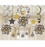 Hanging Swirls - Hollywood Stars Pk 30