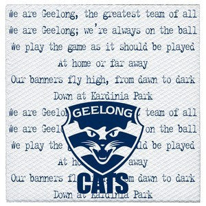 Printed Lunch Napkins - AFL Geelong Cats Pk 20