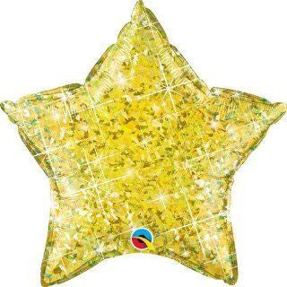 "Foil Balloon 20"" - Holographic Star (Yellow)"