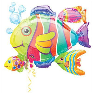 Foil Balloon Supershape - Tropical Fish Cluster