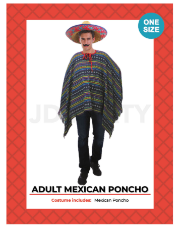 Adult Mexican Poncho