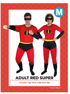 Adult Red Super Costume - M Size