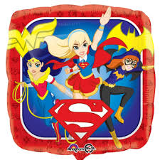 "Foil Balloon 18"" - DC Super Hero Grils"