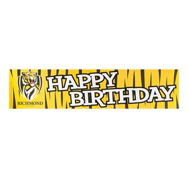 Paper Banner - AFL Richmond Tigers