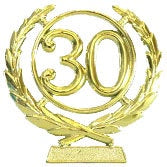 Cake - 30th Wreath Plaque (Gold or Silver)