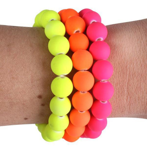 Bracelet - Beaded Neon Set of 3