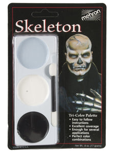 Facepaint - Skeleton Tri-Colour Palette 17g