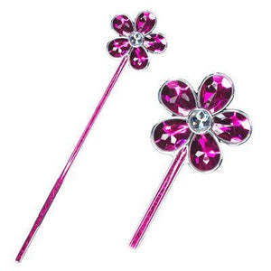 Wand - Large Gem Flower (Hot Pink)
