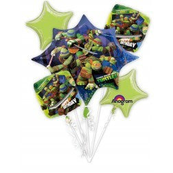 Foil Balloon Bouquet - Teenage Mutant Ninja Turtles