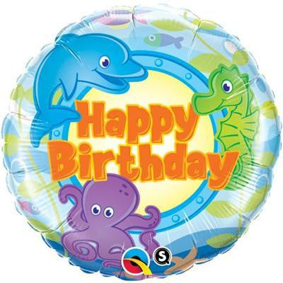"Foil Balloon 18"" - Birthday Fun Sea Creatures"