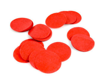 "Confetti - 2"" Circles Tissue Paper 7g (Red)"