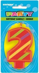 Candle Number - 2nd Bright Decorative