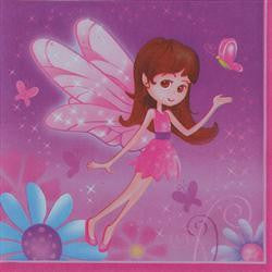 Printed Lunch Napkins 2Ply - Fairy Whimsy Pk 16