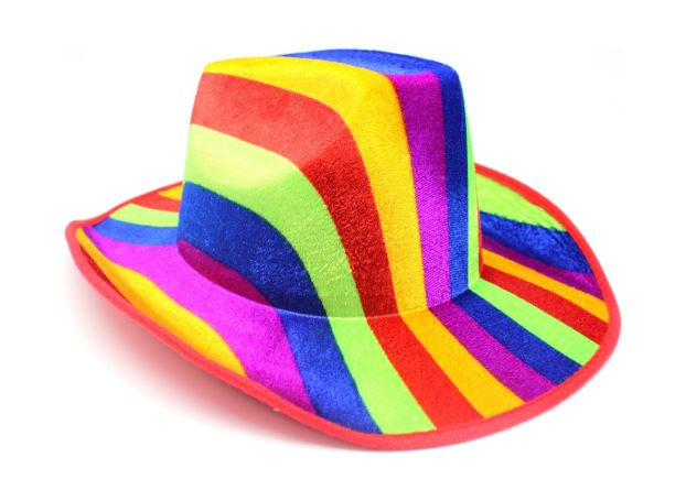 Hat - Cowboy hat with Pattern (Rainbow)