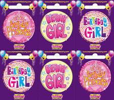Badge - Girl Birthday Asstd