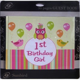 Guest Book - 1st Birthday Girl