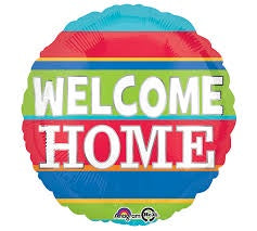"Foil Balloon 18"" - Welcome Home Colourful Stripes"