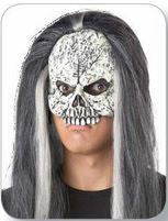 Mask - Skeleton Half Face w/Hair
