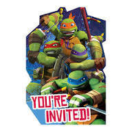 Invites - Teenage Mutant Ninja Turtles Pk 8