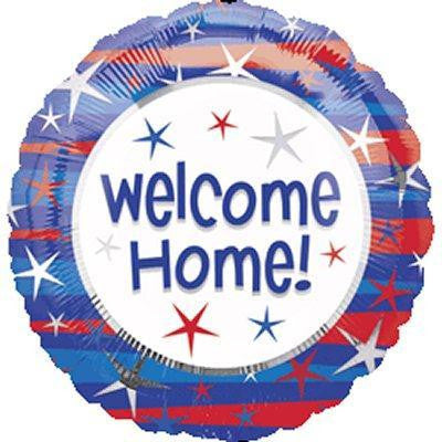 "Foil Balloon 17"" - Welcome Home Blue & Red"