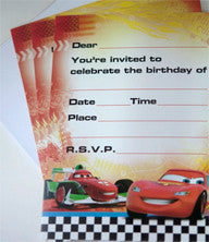 Invites - Disney Cars Pk 8